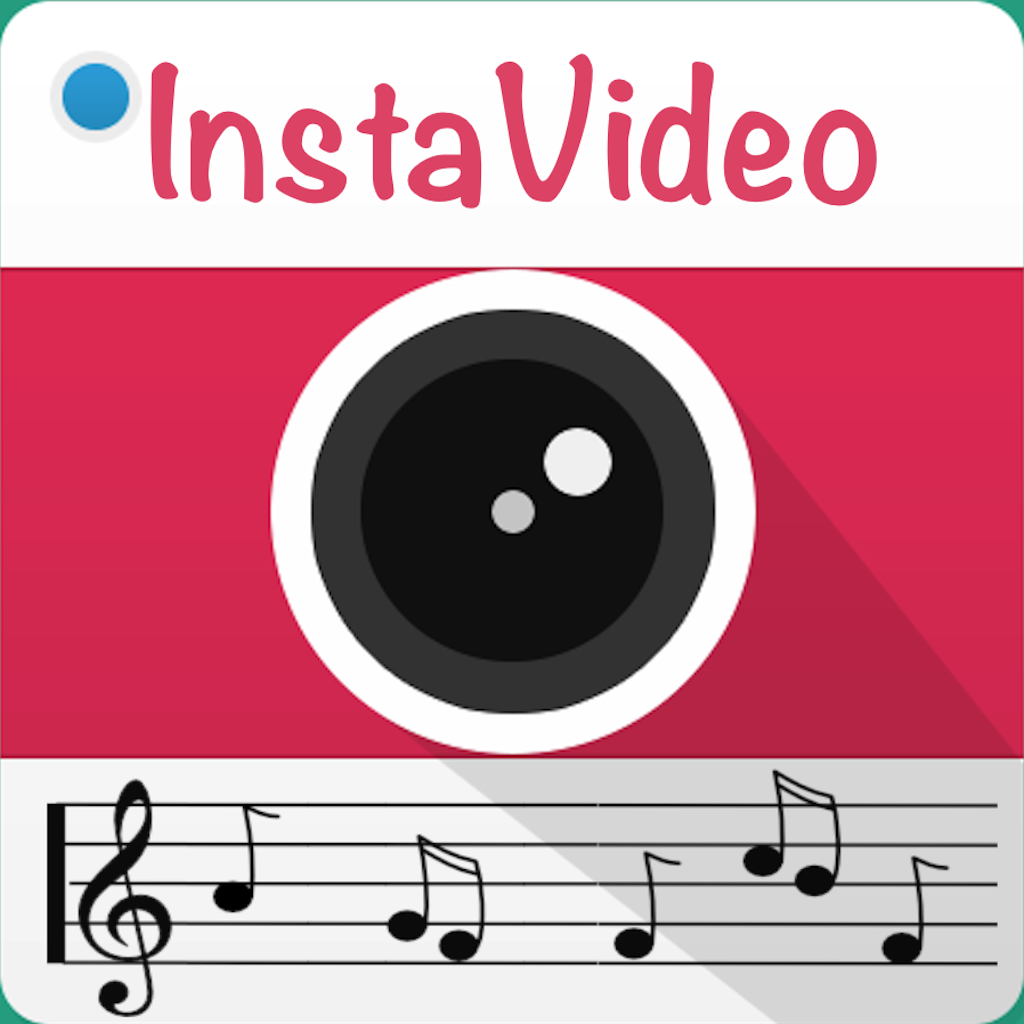 Instavideoaudio add background music text subtitle watermark app icon ccuart Image collections
